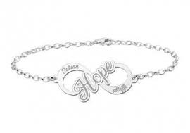 Names4ever Hope Infinity Armband van Zilver