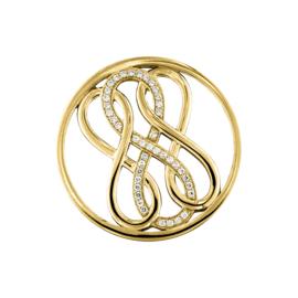 Goudkleurige Driedubbele Zirkonia Infinity Munt van MY iMenso
