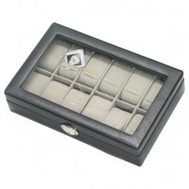 DAVIDTS horlogebox zwart voor 12 horloges
