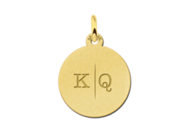 Gouden Initial Ketting Hanger  | Names4ever