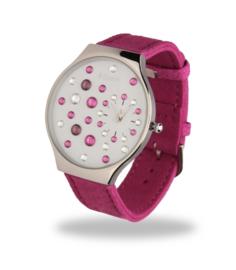 Ladybird Horloge met Brede Felroze Lederen Horlogeband van Spark