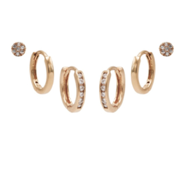 Karma Jewelry – Zesdelige Double Hinged Earparty Set - Rosé