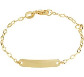 Gouden Graveer Kinderarmband 4 mm 11 – 13 cm