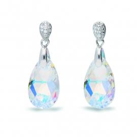 Sierlijke Druppel Swarovski Oorbellen van Spark Jewelry