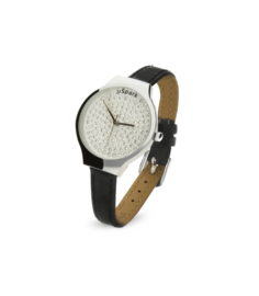 Swarovski Horloge met Lederen Horlogeband van Spark Jewelry