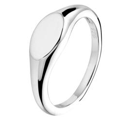 Zilveren Graveer Ring met Rhodium voor Dames | Initialen Ring