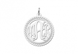 Names4ever Medium Monogram met Sierrand Hanger van Zilver ZMH008