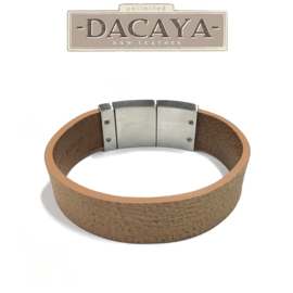 Rough Side Camel Armband van DACAYA