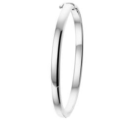Zilveren Bangle armband met Bolle Buis