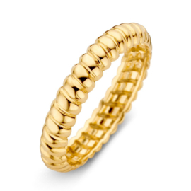 Excellent Jewelry Gedraaide Aanschuifring van Gepolijst Geelgoud