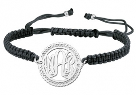 Zilveren Decoratieve Monogram Armband ZNA10 > Names4ever