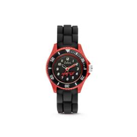 Zwart met Rood KIDZ Horloge met Auto van Colori Junior