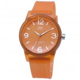 Q&Q oranje kunststof unisex horloge