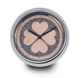 LOCKits Horloge Munt met Roségoudkleurige Hartjes Wijzerplaat 33mm