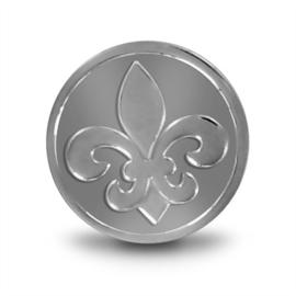 LOCKits Zilverkleurige Franse Lelie Munt 25mm