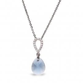 Pear Drop Blauwe Swarovski Ketting van Spark Jewelry