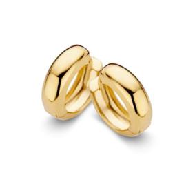 Excellent Jewelry Brede Bolstaande Geelgouden Creolen