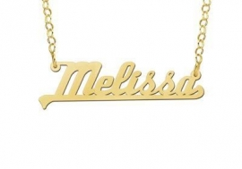 Names4ever Vergulde Melissa Naamketting