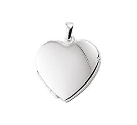 Hartvormig Foto Medaillon van Zilver | Graveren mogelijk!