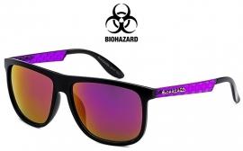 Kleurrijke Retro Zonnebril van Biohazard met Paarse Pootjes