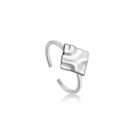 Ania Haie Crush Square Zilveren Dames Ring