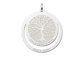 Zilveren Familiehanger met Levensboom   Names4ever