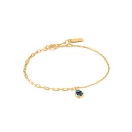 Ania Haie Turning Tides Goudkleurige Armband met Natuursteen Decoratie