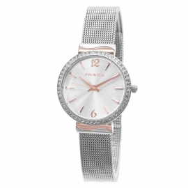 Prisma Horloge P.1566 Edelstalen Milanese Horlogeband
