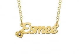 Names4ever Vergulde Esmee Naamketting