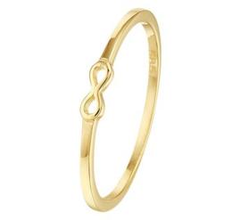 14k Gouden Ring met infinity teken