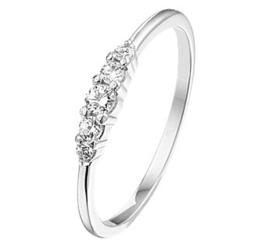 Zilveren Ring met Zirkonia Rij