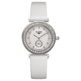 Zilverkleurig Maia Dames Horloge van Elysee met Witte Horlogeband