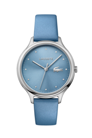 Lacoste Constance Dames Horloge met Luchtblauw Lederen Horlogeband