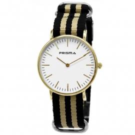 Prisma Horloge Unisex Edelstaal Goud 1620.20WG