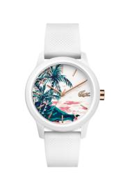 Lacoste Witte Siliconen Dames Horloge met Witte Horlogeband