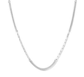 Zilveren Collier met Verschillende Schakels 2,8 mm 43 + 3 cm