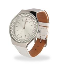 Centella Horloge met Wit Lederen Horlogeband van Spark