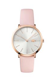 Lacoste Roségoudkleurig Dames Horloge met Roze Lederen Horlogeband