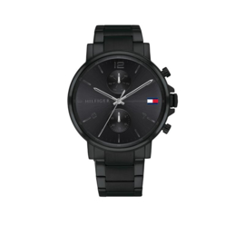 Zwart Heren Horloge van Tommy Hilfiger Daniel TH1710414