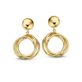 Excellent Jewelry Geelgouden Oorstekers met Meerdere Cirkels