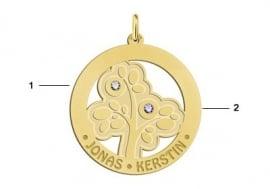 Gouden Stamboom met geboortestenen en namen Names4ever