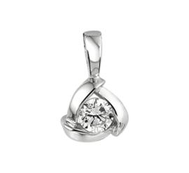 Zilveren Zirkonia Hanger met Rhodium