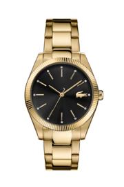 Lacoste Goudkleurig Dames Horloge met Goudkleurige Schakelband