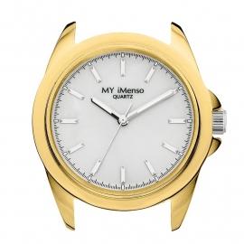 MY iMenso Horloge Kast met Zilverkleurige Tijdsaanduidingen
