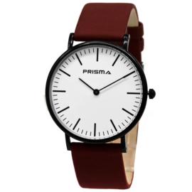 Note Zwart Unisex Horloge met Rode Horlogeband