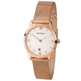 Sekonda Roségoudkleurig Dames Horloge met Milanese Horlogeband