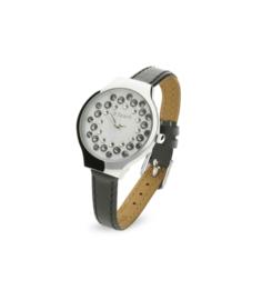 Spark Horloge met Grijs Lederen Horlogeband