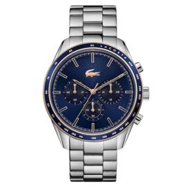 Lacoste Stalen Boston Horloge met Blauwe Wijzerplaat voor Heren