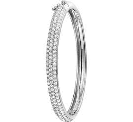 Bangle armband van Zilver met Zirkonia's