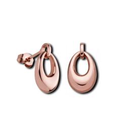 Ovaalvormige Opengewerkte Roségoudkleurige Oorstekers van M&M